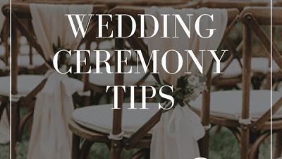 wedding ceremony tips - wedding venue